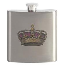 Vintage Pink Crown Flask