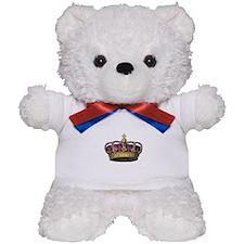 Vintage Pink Crown Teddy Bear