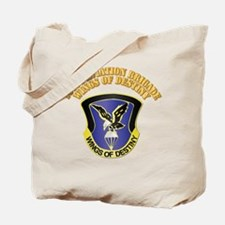 DUI - 101st Aviation Brigade with Text Tote Bag