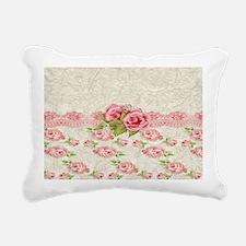 Vintage Pink and  Cream  Rectangular Canvas Pillow