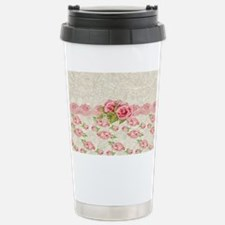 Vintage Pink and  Cream Rose Pa Travel Mug