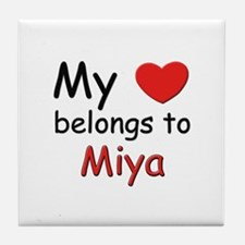 My heart belongs to miya Tile Coaster