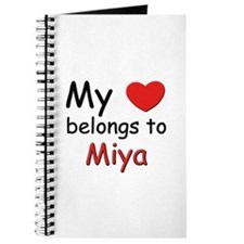 My heart belongs to miya Journal