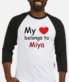 My heart belongs to miya Baseball Jersey