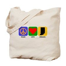 Peace Love Indiana Tote Bag