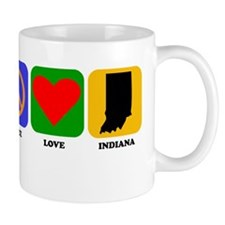 Peace Love Indiana Mugs