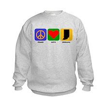 Peace Love Indiana Sweatshirt