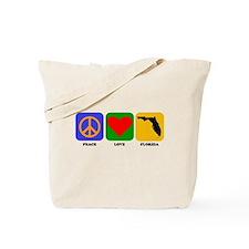 Peace Love Florida Tote Bag