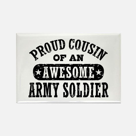 Proud Army Cousin Rectangle Magnet