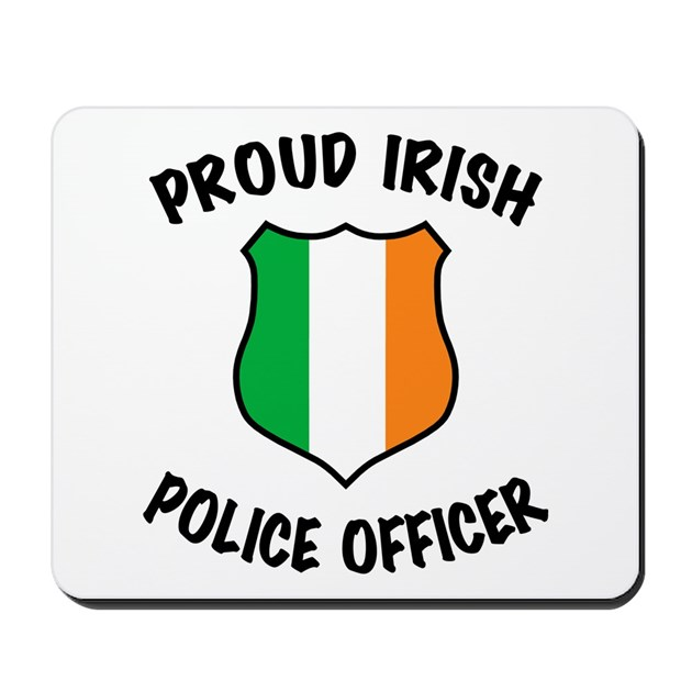 Irish Police: Irish Police Officer Mousepad By Policeshop