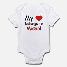 My heart belongs to misael Infant Bodysuit