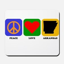 Peace Love Arkansas Mousepad