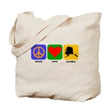 Peace Love Alaska Tote Bag