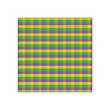 """MGboobsNbeadsPlaidSq Square Sticker 3"""" x 3"""""""