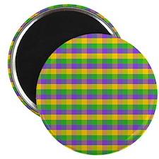 MGboobsNbeadsPlaidSq Magnet