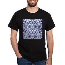 Navy Blue Damask T-Shirt