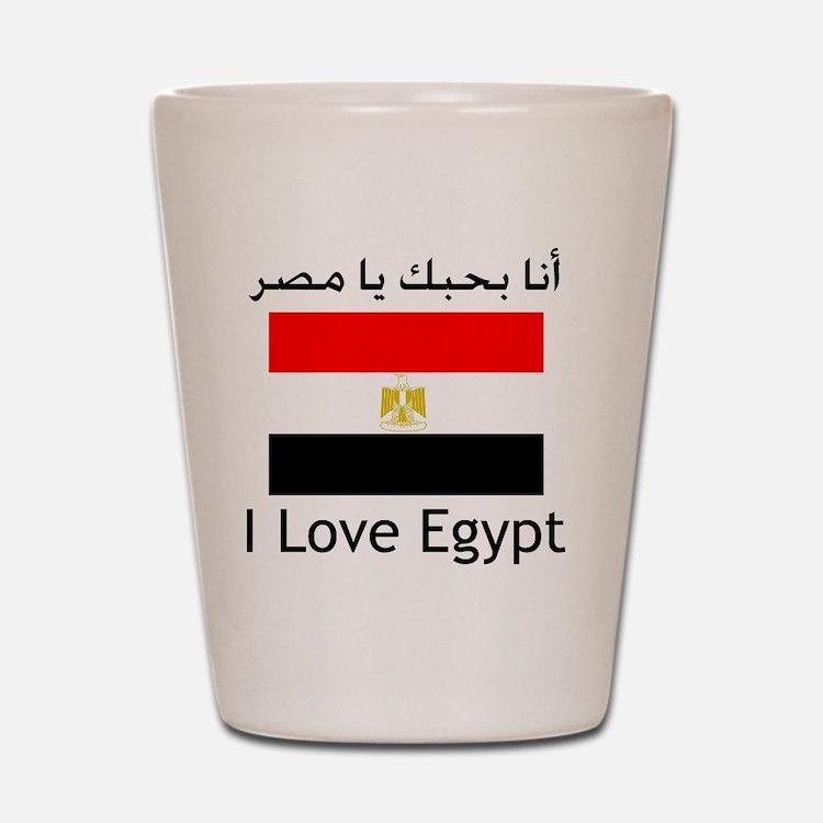 I love egypt Shot Glass