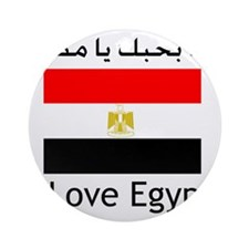 I love egypt Round Ornament