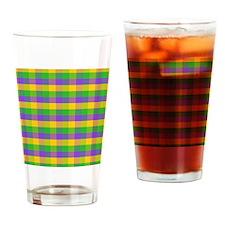 FleurMGcolorPlaidMp Drinking Glass