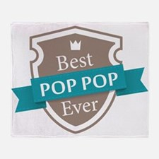 Best PopPop Ever Throw Blanket