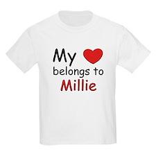 My heart belongs to millie Kids T-Shirt