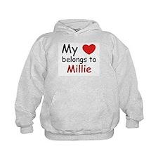 My heart belongs to millie Hoodie