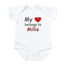 My heart belongs to millie Onesie