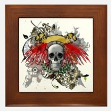 Winged Death Framed Tile
