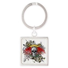 Winged Death Square Keychain
