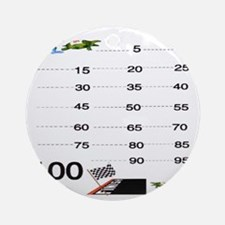 Count by 5 Race to 100 Round Ornament
