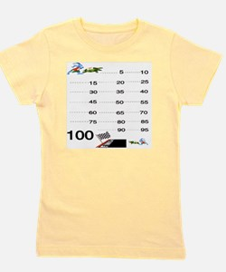 Count by 5 Race to 100 Girl's Tee