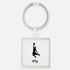 iFly Bball black Square Keychain
