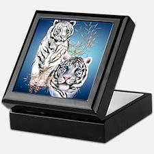 Two White Tigers Calender Keepsake Box