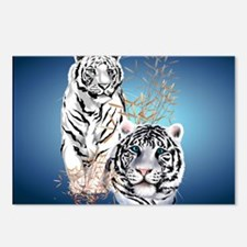 Two White Tigers Calender Postcards (Package of 8)