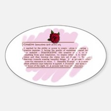 Creative Rose Oval Decal