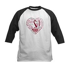 Throat Cancer Heart Words Tee