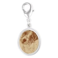Jack_Russell_Rough_Kline Silver Oval Charm