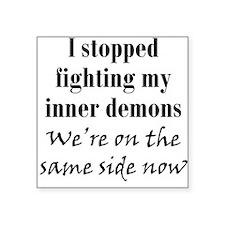 """inner-demons4 Square Sticker 3"""" x 3"""""""