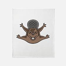 drop-beaver-DKT Throw Blanket