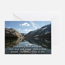 Mousepad - Stop every now and then Greeting Card