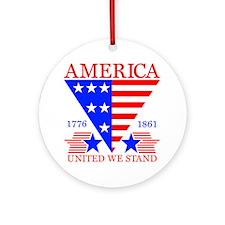 America 2 Round Ornament