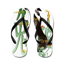 The Year Of The Rabbit Trans Flip Flops