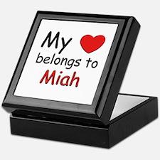 My heart belongs to miah Keepsake Box