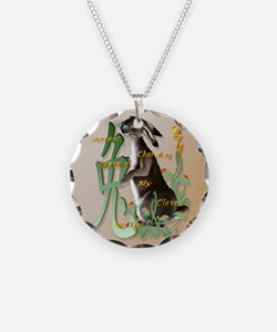 The Year Of The Rabbit-circl Necklace