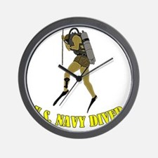 Navy Diver SCUBA Wall Clock