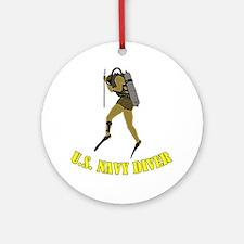 Navy Diver SCUBA Round Ornament