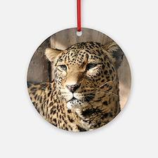 Leopard001 Round Ornament