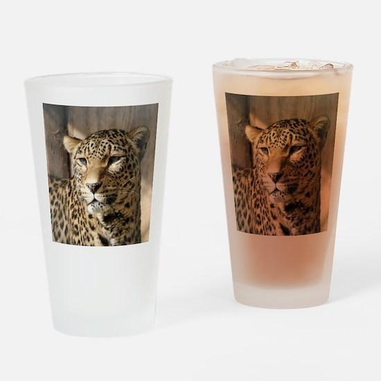 Leopard001 Drinking Glass