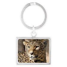 Leopard001 Landscape Keychain