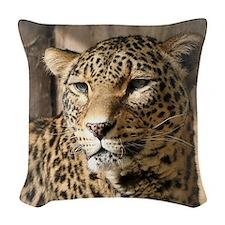 Leopard001 Woven Throw Pillow